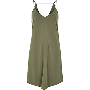 Green hanky hem dress