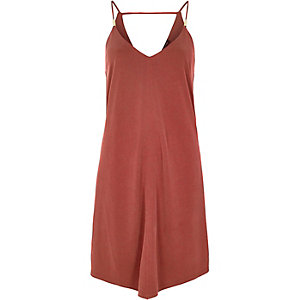 Red hanky hem dress