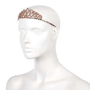 Rose gold ​tone diamanté encrusted tiara