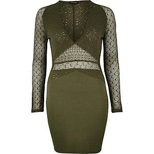 Khaki mesh dress