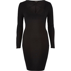 Black multi strap dress