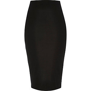 Black jersey pencil skirt