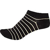 Schwarze, gestreifte Sneaker-Socken