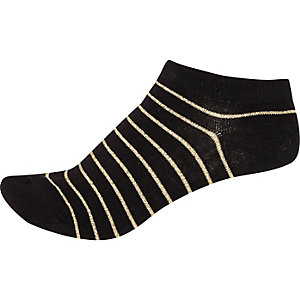 Black stripe sneaker socks