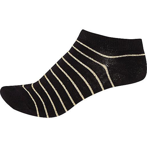Black stripe sneaker socks