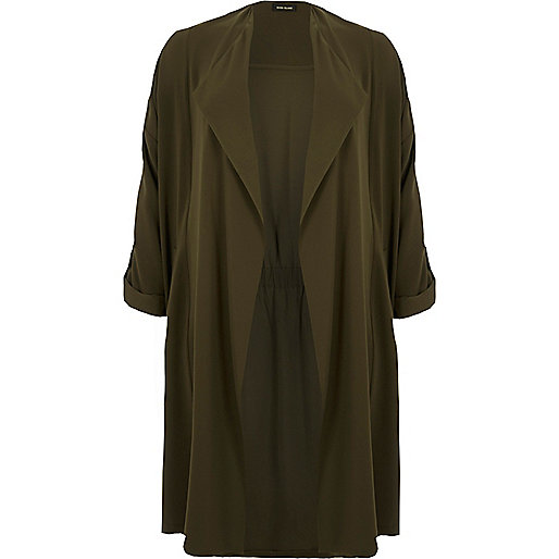 RI Plus khaki duster jacket