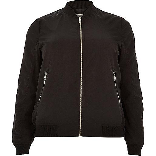 Plus black bomber jacket