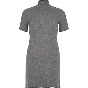 Grey funnel neck tunic
