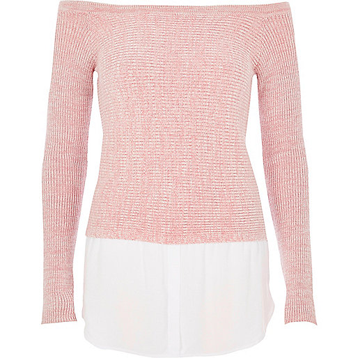 Light pink 2 in 1 sweater