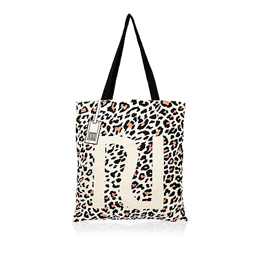Cabas imprimé léopard beige