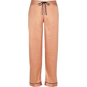 Pyjama-Hose aus pinkem Satin