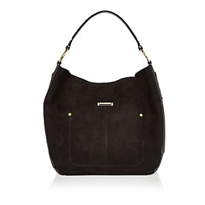 Black slouch handbag