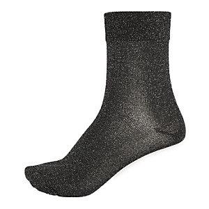 Silver glitter ankle socks