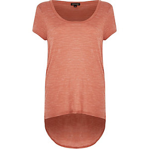 Light brown scoop neck T-shirt