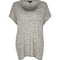 RI Plus grey scoop neck T-shirt