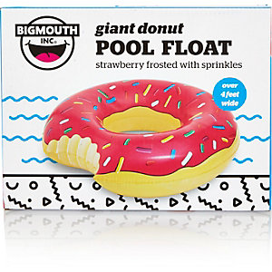 Pink giant donut inflatable pool float
