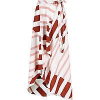 Pink stripe maxi skirt