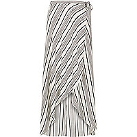 White stripe maxi skirt