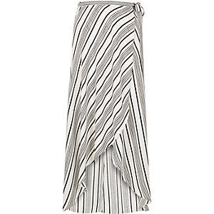 White stripe maxi skirt