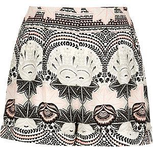 Pink print shorts