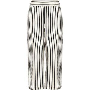 RI Plus stripe cropped trousers