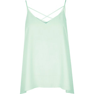 Light green strappy cami