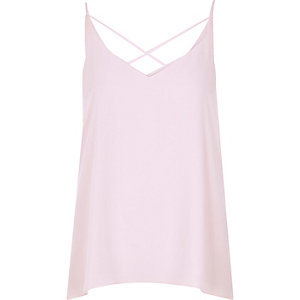 Light pink strappy cami