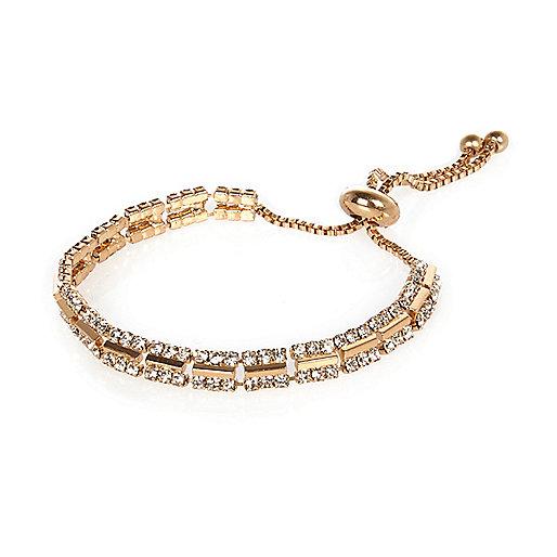Gold tone diamanté bracelet