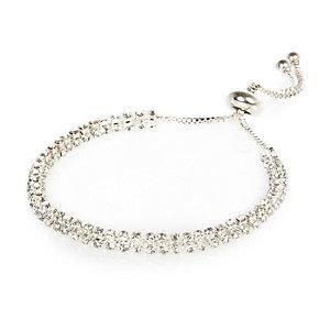 Silver tone diamanté bracelet