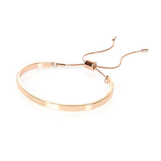 Rose gold sleek cuff bracelet