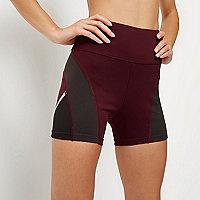 RI Active burgundy gym shorts