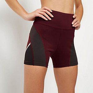 RI Active dark red gym shorts