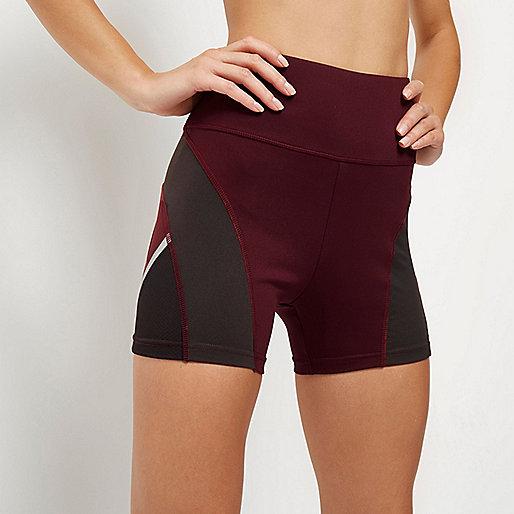 RI Active dark red gym shorts