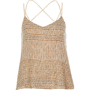 Gold embellished cami