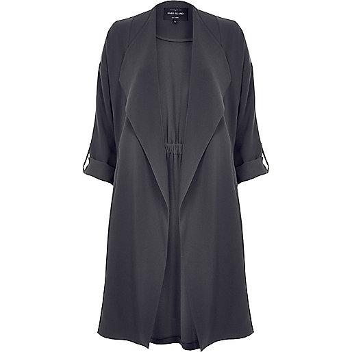 Dark grey duster jacket