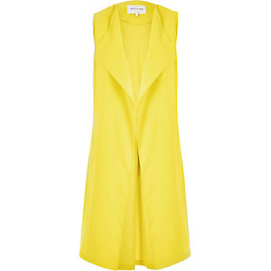 Yellow sleeveless jacket