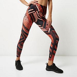 RI Active orange print gym leggings