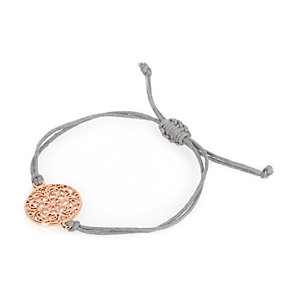 Rose gold filigree thread bracelet