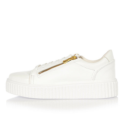 Creepers blanches zippées