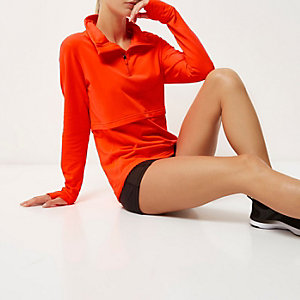 RI Active orange layered sports top