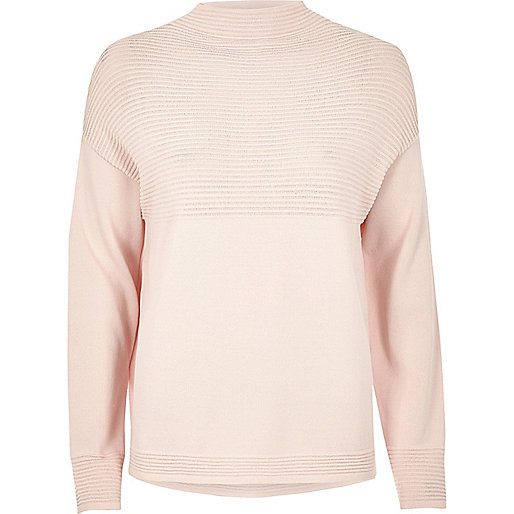 Light pink ribbed jumper