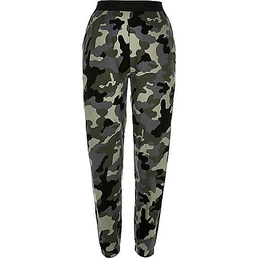 Pantalon de jogging camouflage vert