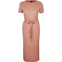Light pink pleated dress
