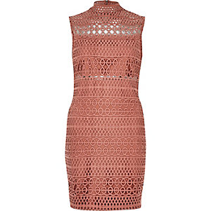 Light pink cornelli mini dress