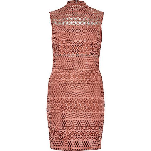 Light pink cornelli mini dress