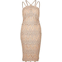 Cornelli-Kleid in Nude