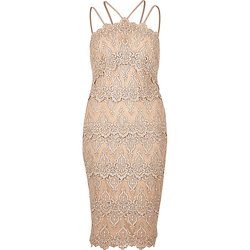Nude cornelli dress