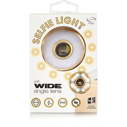 Gold selfie light