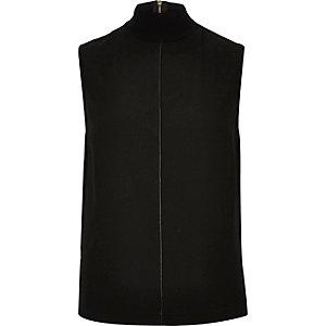 Black high neck top