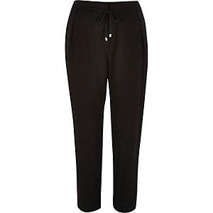 Black cord tie pants